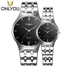 Hot Sell Fashion Lover watches Onlyou Women Top Brand Casual Watches Ultra Thin Rhinestone Bracelet Men Fashion Sports quartz