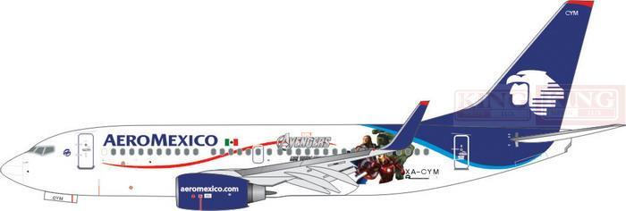 Phoenix 4026 Mexico Airlines XA-CYM 1:400 B737-700/w commercial jetliners plane model hobby
