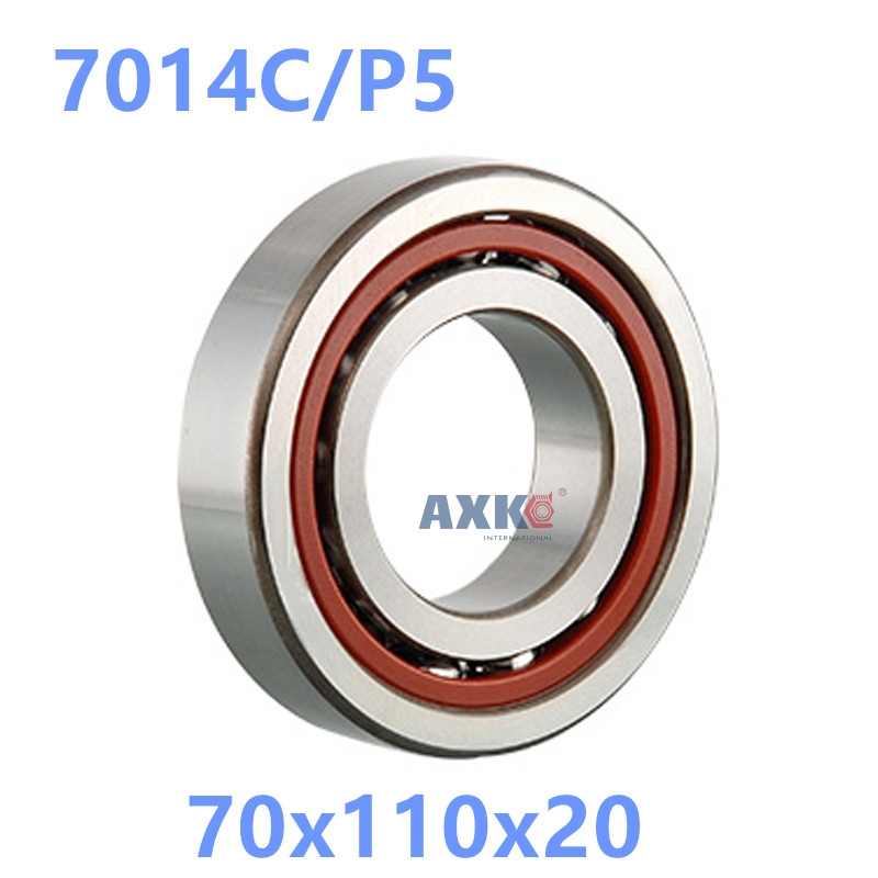 1pcs AXK  7014 7014C 7014C/P5 70x110x20 Angular Contact Bearings Spindle Bearings CNC ABEC-5 1pcs 71901 71901cd p4 7901 12x24x6 mochu thin walled miniature angular contact bearings speed spindle bearings cnc abec 7
