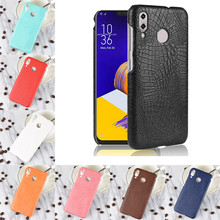 For Asus Zenfone 5Z ZS620KL Case Luxury Crocodile PU Leather Hard PC Back Cover Phone