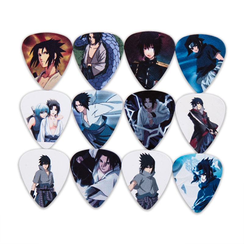 SOACH 10pcs/lot 0.46/0.71/1.0mm Anime Cool Accessories Guitarra/Acoustic Guitar Paddle/Bass Guitar Picks/ukulele Parts