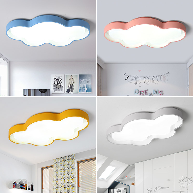New White Pink Blue yellow Clouds Modern Led Ceiling Lights For Bedroom Studyroom Childrenroom Kids Rom
