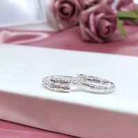 JOOCHEER Sterling S990 silver 990 ring rings wedding party trendy cute romantic classic lover ring