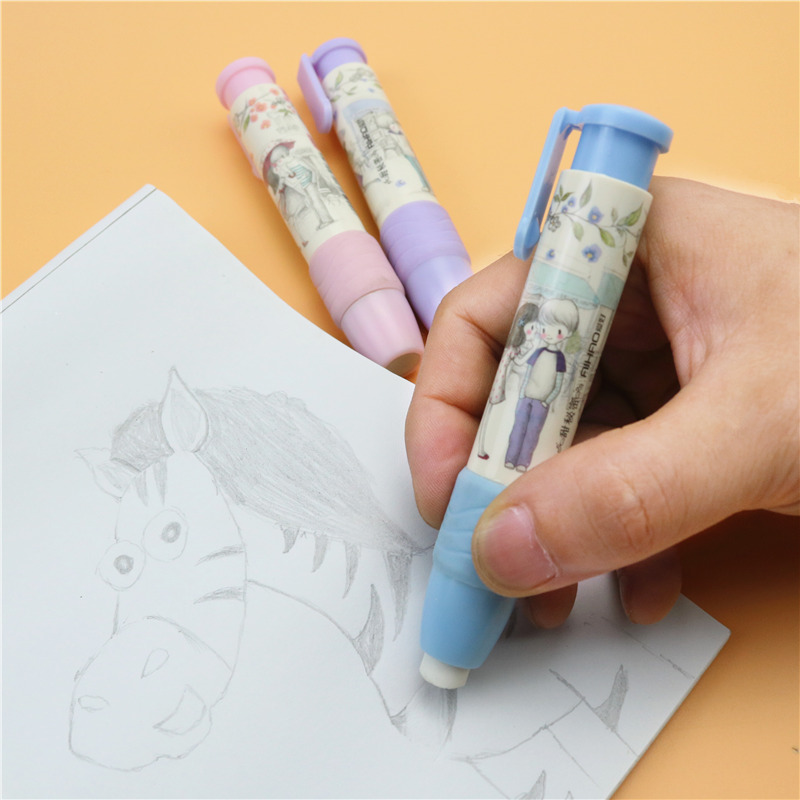 Cute Kawaii Press Rubber Erasers New School Children Pencil Eraser For Gift 1pcs