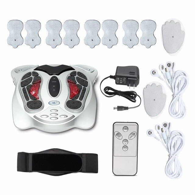Elektronische Fuß Massager Fernen Infrarot Heizung Akupunktur Punkte Reflexzonenmassage Füße Massage Maschine Abnehmen Gürtel Pads Körperpflege
