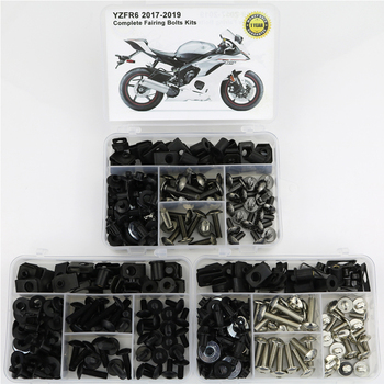 Fit For Yamaha YZF R6 2017 2018 2019 Motorcycle Covering Bolts Kit Complete Full Fairing Clips Speed Nuts for yamaha tmax 530 tmax530 2012 2019 complete full fairing bolts kit bodywork screws steel clips speed nuts covering bolts