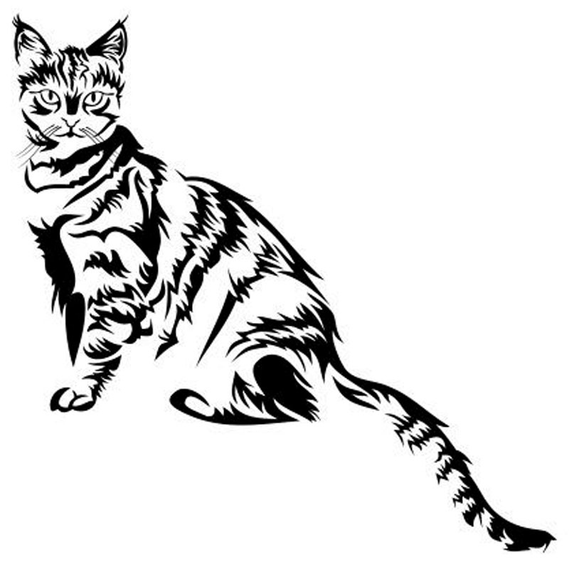 14 514 3cm Sitting Little Small Cat Classic Animal Car Stickers