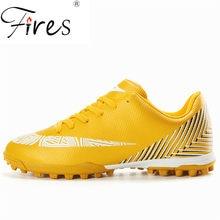 Homens Marca de Sapatos de Futebol Adolescentes incêndios Profissional  Esporte Masculino Solas Tênis Chuteira Futebol Chuteiras d14cfa4e5e293