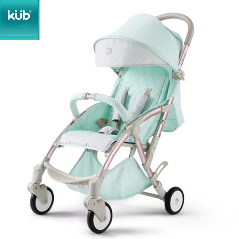 KUB Stroller Baby Stroller Lightweight Folding Seated Reclining Child Four-wheel Suspension Umbrella Car