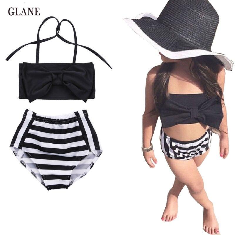 2-7years Children Swimwear Girls Swimwear Baby Kids Biquini Infantil Swimsuit Bikini Girl 2017 New Summer Bathing Suit