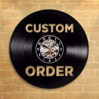 Personalized Order Your design Custom Your logo Vinyl Record Wall Clock Customized Personal Wall Art Clock