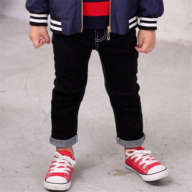 da5fa45e3cc1 kids jeans boy kids black clothes black solid Elastic Waist boys straight  skinny long jeans for kids harem pants