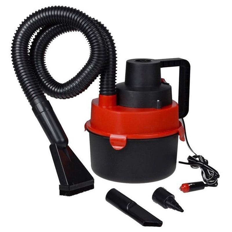 90W 12V Wet Dry Car Vacuum Cleaner Automobiles Portable Handheld Inflator Turbo Hepa Filter for Dust Paper Scraps Dirt