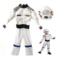 Free Shipping Astronaut Cosplay Costume Christmas Children's Day Boy Astronaut Costume Space Toy Muscle Clothes Cosplay Costume