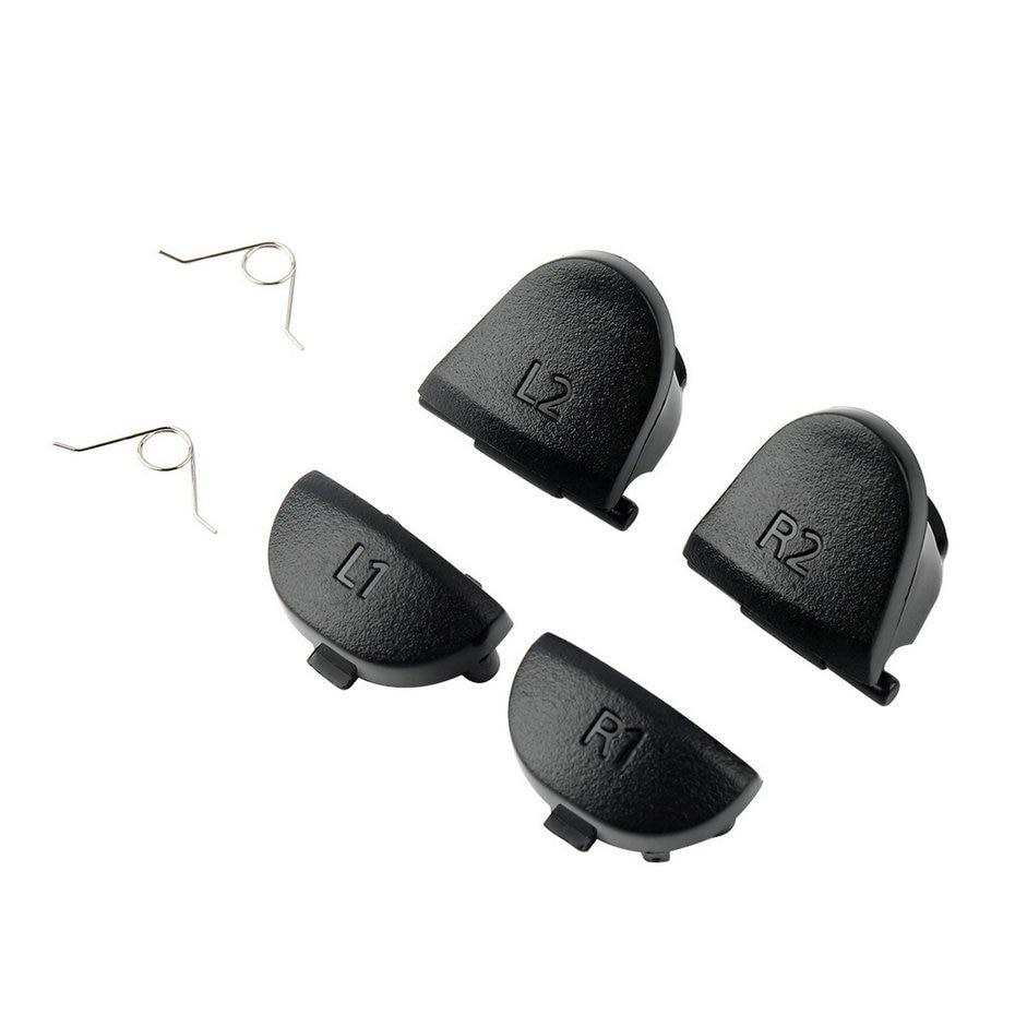 Лидер продаж, оптовая продажа, 2 группы кнопок триггера + 2 Замена пружин, запчасти для PlayStation 4 PS4 L2 R2 L1 R1, акция