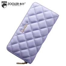 free delivery  Women bag  2016 new casual sheepskin long wallet Quilted Clutch Wallet Fashion folded wallet
