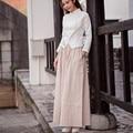 2017 de Linho Calça Casual Calças de Personalidade Harem Pants Soltas Plus Size Sólido Elástico Na Cintura das Mulheres Calças Calças para As Mulheres