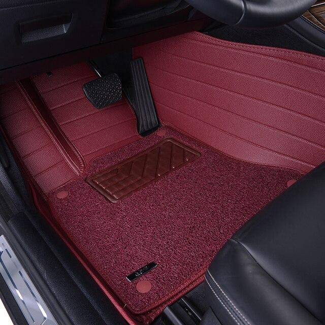 en cuir fil de voiture tapis de sol pour ds5 ds6 ds3 ds4 ds4s ds5ls double berline tapis de sol. Black Bedroom Furniture Sets. Home Design Ideas