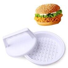 1 шт. DIY Пластиковый фаршированный инструмент для формования мяса гамбургера пресс-формы для барбекю с крышкой аксессуары для кухни новинка