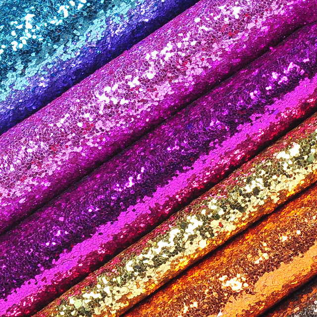 ae16fe5be6fe 0.5 Meter Chunky Glitter Fabric Synthetic Leather Piece Leatherette Material  Vinyl For Bags Purse Pink Wallpaper