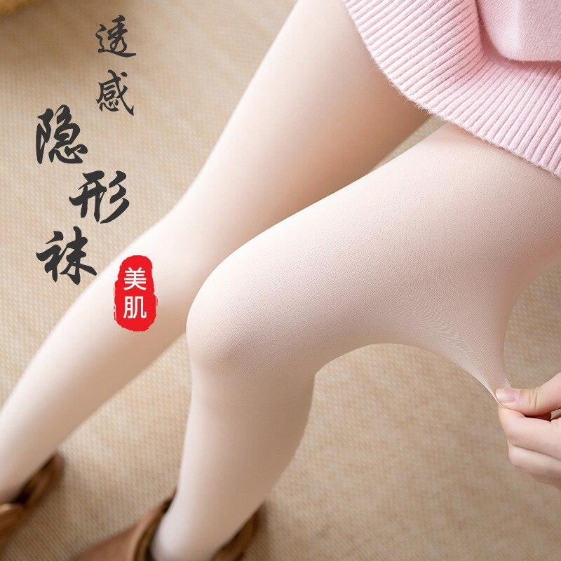 2019 hiver faux viande collants jambes légères couleur de la peau pieds artefact bas bas velours épaissi pantalon nouvelles femmes collants