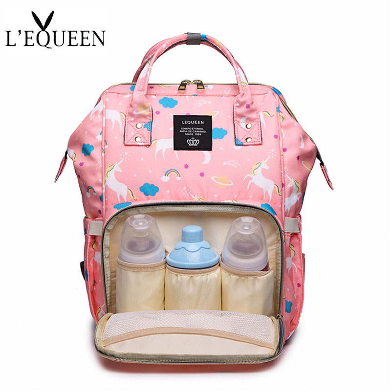 4 Colors Mummy Maternity Nappy Bag Large Capacity Unicorn Baby Diaper Bag Travel Backpack Designer Nursing Bag For Baby Care