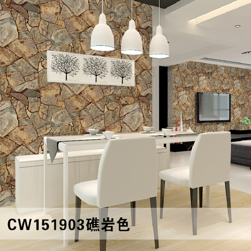 10 Meter 3d Wallpaper Brick Stone Pattern Vinyl Home Decoration Contact Paper Living Room Wallpapers Papel De Parede In From