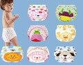 1 unid bebé a prueba de agua reutilizables pañales de algodón / paño de los niños pañales / pañales reutilizables / pantalones de entrenamiento / cubierta del pañal lavable NB004