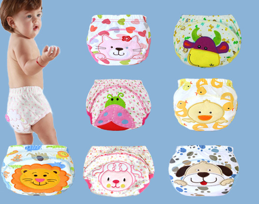1pc Baby Waterproof Reusable  cotton Diapers/Children Cloth Diaper/Reusable Nappies/Training Pants/Diaper Cover Washable NB004