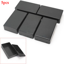 5Pcs Junction Box Black Enclosure Instrument Shell Electronic Project Waterproof ABS Indoor Outdoor Case Tool Cable Wire Power