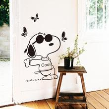 цена на New design cheap home decoration vinyl Art cartoon dog wall sticker removable PVC house decor creative animal decal in shop