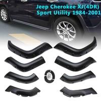 8 Pcs For Jeep Cherokee XJ(4DR) Sport Utility 1984 2001 Mud Flaps Splash Guard Wheel Mudguards Accessories
