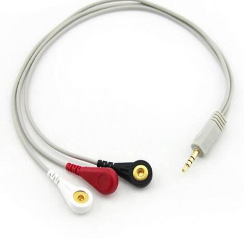 Бесплатная доставка ЭКГ кабель DC3.5 головы специальный разъем наушников прямые 3-провод тип кнопки для холтеровское машина