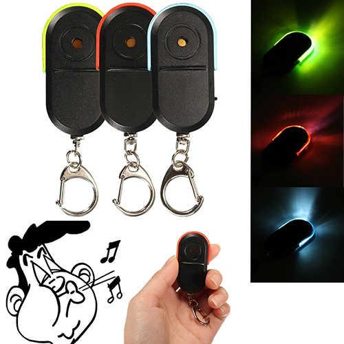 Mais novo Hot Sem Fio Alarme Anti-Lost Key Finder Locator Apito Som Luz LED Chaveiro