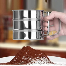 ZMHEGW 2017 Brand New Stainless Steel Sieve Cup Powder Flour Mesh Sieve Baking Tools For Cakes Decorating Pastry Tools Bakeware