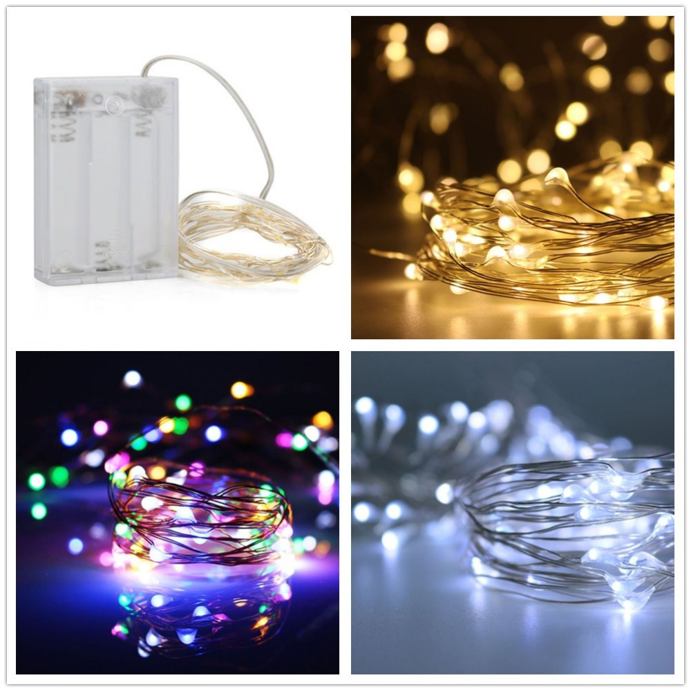 LMCO 5M 50 LEDs 3x AA Battery Operated LED String Lights Starry lights Indoor Outdoor Decorating for Xmas Party Wedding