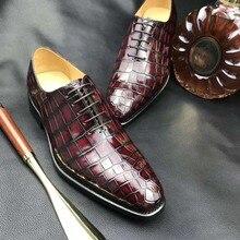 Новинка; мужские деловые модельные туфли из натуральной крокодиловой кожи с подкладкой из коровьей кожи; Роскошные туфли из натуральной кожи