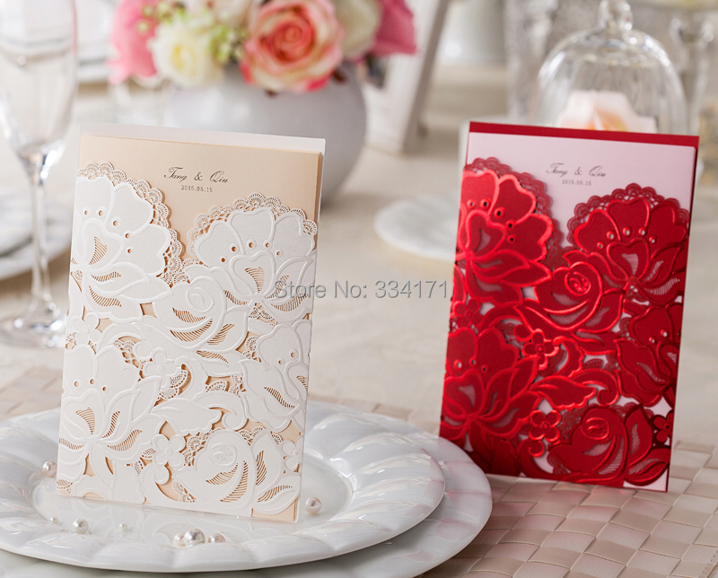 50pcs/set newly arrival free envelop and free seal Wedding ...