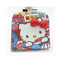 Бесплатная доставка Моды портмоне Hello Kitty Мультфильм Кошелек Высокое качество PU красочные засов кошелек для детей