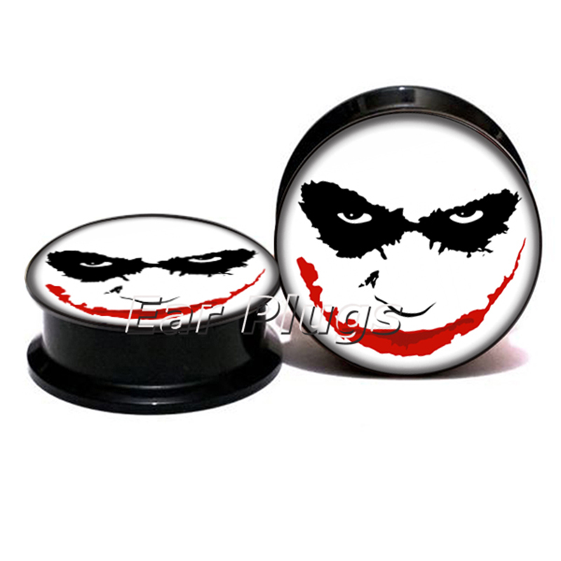 1 pair Joker Plugs ear plug gauges tunnel acrylic screw flesh tunnel body piercing jewelry PSP0789