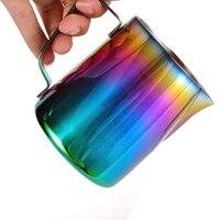 Espuma de leite Jarro Jarro de Latte Art  Rainbow Color Canecas de Café de Aço Inoxidável Batedor de Leite Fumegante de Café Expresso  350/600 ml|Jarros de leite| |  -