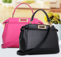 Leather Handbag 2016 New Europe And The United States Big Handbag Contracted One Shoulder Buckle