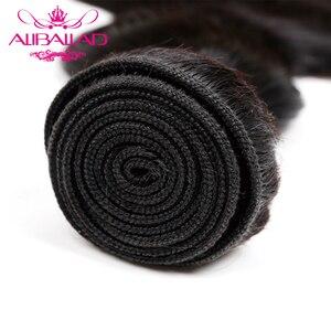 Image 4 - Aliballad Brazilian Hair Weave Bundles Body Wave Hair 4 Pcs/Lot Remy Hair Extensions Natural Color 100% Human Hair Weaving