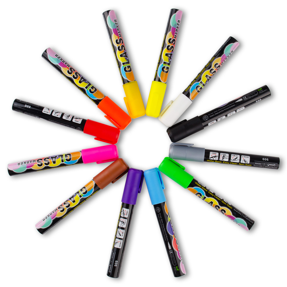 12 Colors Liquid Chalk Markers for Glass, Blackboard, Stickers and LED Writing Board 83 9 66cm weekly planner office chalkboard blackboard black chalk board sticker