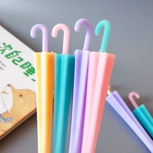 4 pcs/lot Cute umbrella gel pen Soft rubber material escolar kawaii stationery school office supplies for children gifts(China)