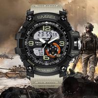 2018 Men Quartz Digital Watch Men Sports Watches Relogio Masculino Khaki S Shock Relojes LED Military Waterproof Wristwatches