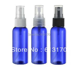 50ml blue Empty spray bottles 50cc pet perfume bottle plastic atomize Vials travel refillable mist containers Free shipping