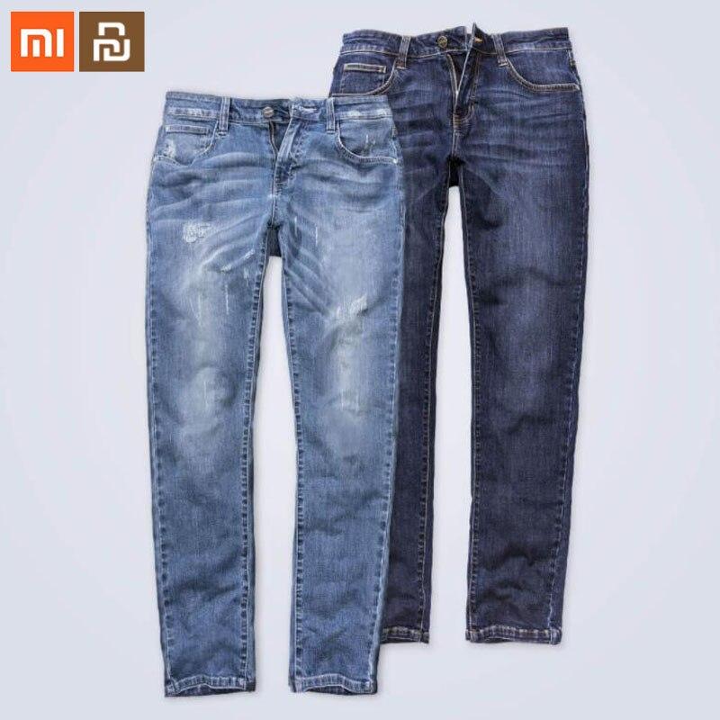 Оригинальный xiaomi youpin 90 очков удобные джинсы мужские модели джинсы мужские прямые мужские брюки зимние мужские брюки свободные умные