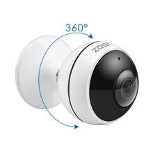 ZOSI ไร้สาย IP กล้อง WiFi Panoramic Fisheye การเฝ้าระวังวิดีโอกล้อง 3MP Ultra HD 360 องศาเต็มมุมมอง VR กล้องวงจรปิดกล้อง