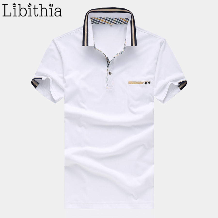 Men Polo Shirts Cotton Brand Summer Mens Solid Colors Homme Plus Size 4XL 5XL Shirt Breathable